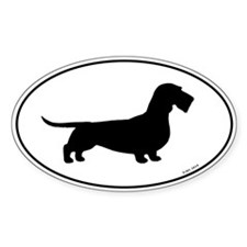 Wirehaired Dachshund Oval Sticker (10 pk)