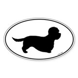 Dandie Dinmont Terrier Oval Sticker (10 pk)
