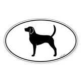 English Foxhound Oval Sticker (10 pk)