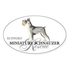 Miniature Schnauzer Rescue Oval Decal