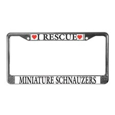Miniature Schnauzer Rescue License Plate Frame