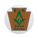 Forest Service Mason Ornament (Round)