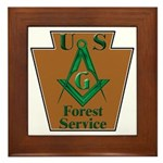 Forest Service Mason Framed Tile