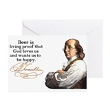 Franklin on Beer Greeting Cards (Pk of 20)