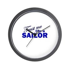 Trust Me I'm a Sailor Wall Clock