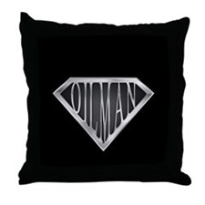 SuperOilman(metal) Throw Pillow