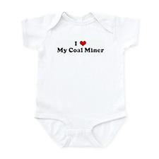 I Love My Coal Miner Infant Bodysuit