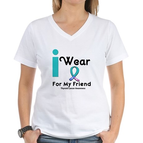 Thyroid Cancer Women's V-Neck T-Shirt