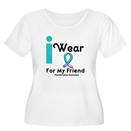 Thyroid Cancer Women's Plus Size Scoop Neck T-Shir