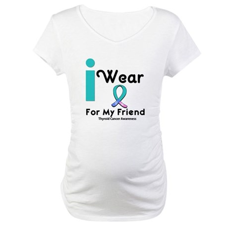 Thyroid Cancer Maternity T-Shirt