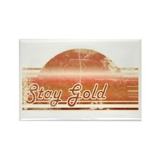Vintage Distressed Stay Gold Rectangle Magnet (10