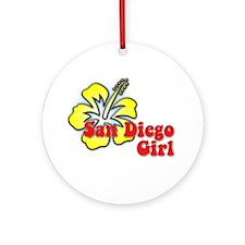 San Diego Girl Ornament (Round)