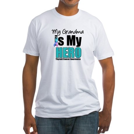 Thyroid Cancer Hero Fitted T-Shirt