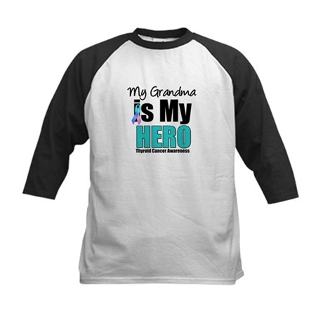 Thyroid Cancer Hero Kids Baseball Jersey