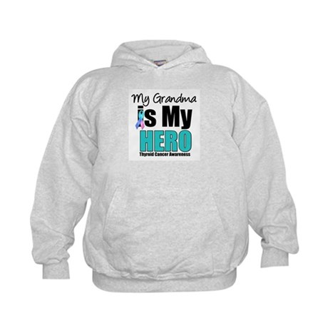 Thyroid Cancer Hero Kids Hoodie