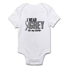 I Wear Grey For My Sister 10 Infant Bodysuit