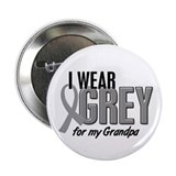 "I Wear Grey For My Grandpa 10 2.25"" Button (10 pac"