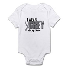 I Wear Grey For My Uncle 10 Infant Bodysuit