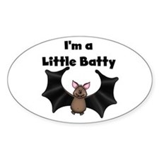Batty Halloween Oval Decal