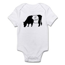 oreo cookie cow Infant Bodysuit