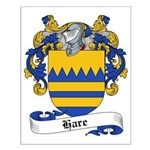 Hare Family Crest Small Poster