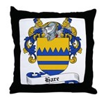 Hare Family Crest Throw Pillow