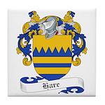 Hare Family Crest Tile Coaster