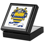 Hare Family Crest Keepsake Box