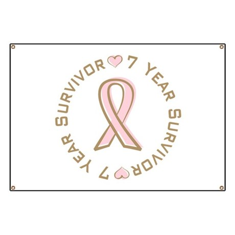 7 Year Breast Cancer Survivor Banner