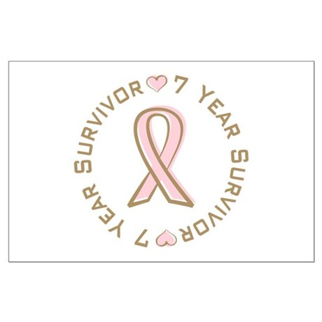 7 Year Breast Cancer Survivor Large Poster