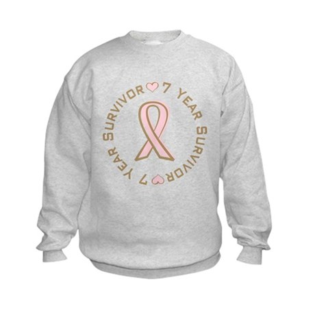 7 Year Breast Cancer Survivor Kids Sweatshirt