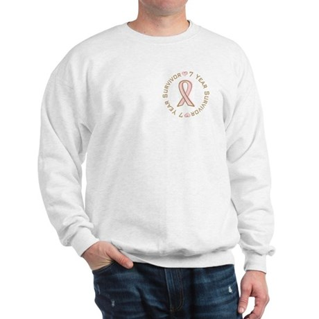 7 Year Breast Cancer Survivor Sweatshirt