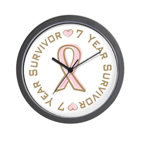 7 Year Breast Cancer Survivor Wall Clock