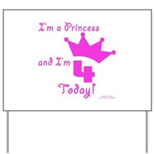 4th Birthday Princess Yard Sign
