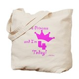4th Birthday Princess Tote Bag