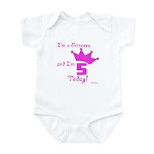 5th Birthday Princess Infant Bodysuit
