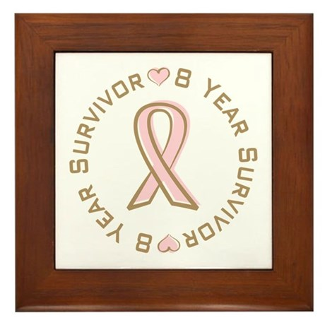 8 Year Breast Cancer Survivor Framed Tile