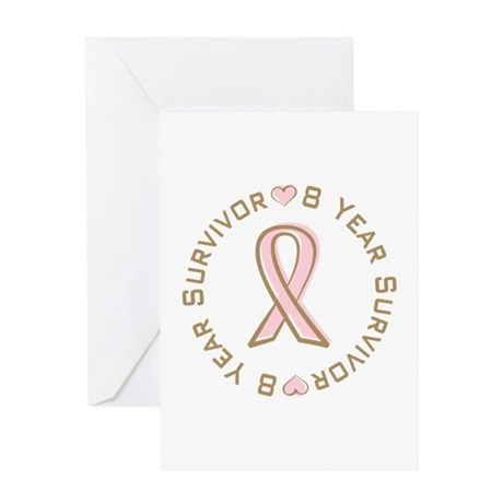 8 Year Breast Cancer Survivor Greeting Card