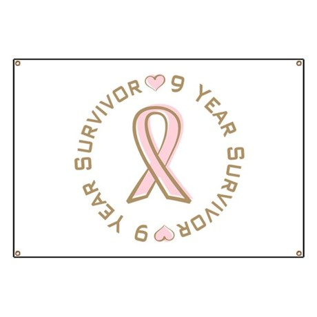 9 Year Breast Cancer Survivor Banner