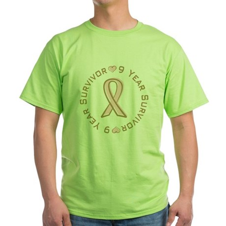 9 Year Breast Cancer Survivor Green T-Shirt