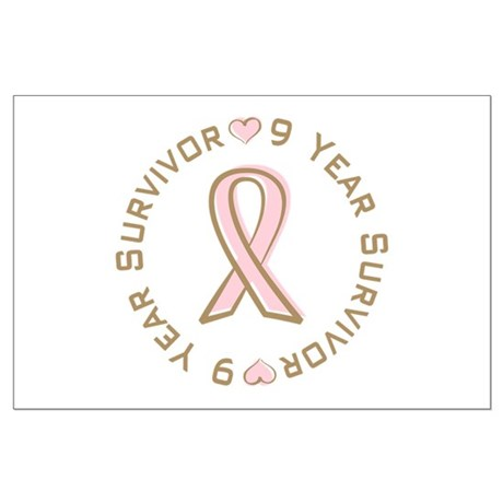 9 Year Breast Cancer Survivor Large Poster
