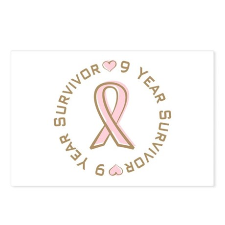 9 Year Breast Cancer Survivor Postcards (Package o