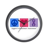 Peace Love Cure AD Wall Clock