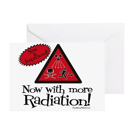 Now with more Radiation Shirt Greeting Card
