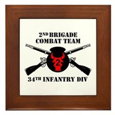 2nd BCT 34th Infantry Division (1) Framed Tile