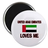 "United Arab Emirates Loves Me 2.25"" Magnet (10 pac"