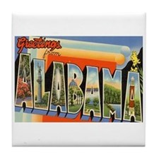 Alabama AL Tile Coaster