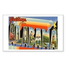 Alabama AL Rectangle Decal