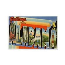 Alabama AL Rectangle Magnet