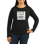 Handy man's Women's Long Sleeve Dark T-Shirt